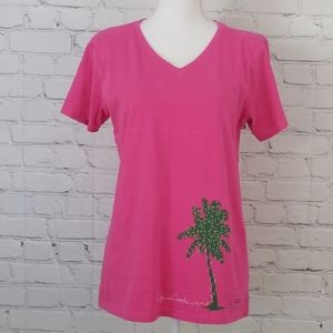 NWT Life is Good V Neck Tee